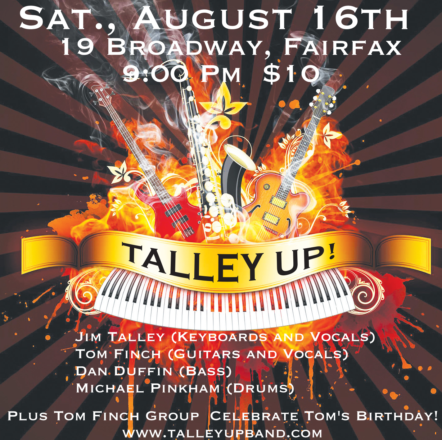19 Broadway, Fairfax, Ca:  Sat., Aug. 16th, 2014